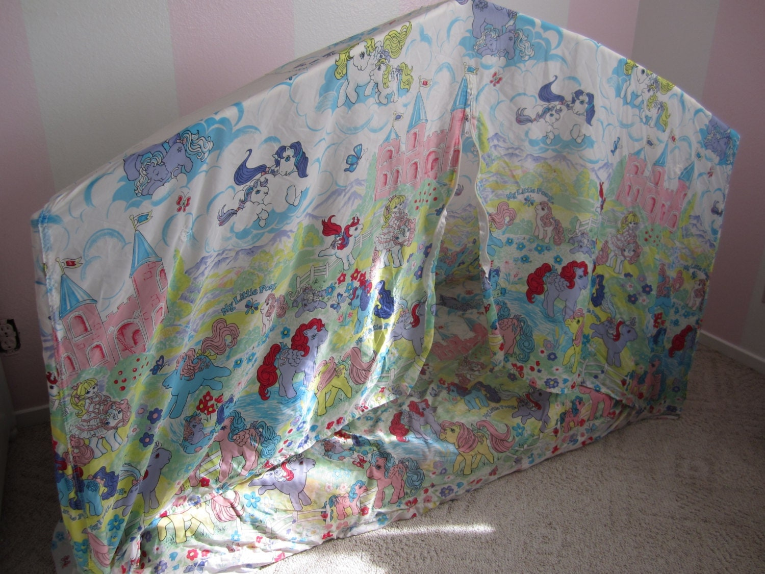 My Little Pony Hide N Sleep Play House Bed Tent 1985 Hasbro