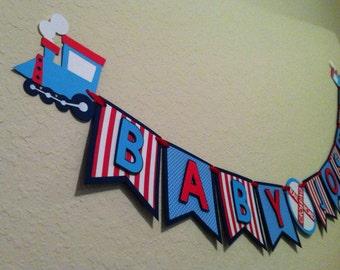 Train Theme Birthday Banner