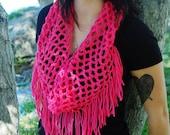 net fringe cowl scarf-cowl-scarf-infinity scarf-summer cowl-light scarf-pink scarf-fringe scarf-fishnet scarf-net scarf-net cowl-fringe cowl