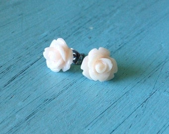Misty Rose Flower Earrings