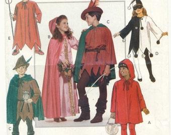 Costume Pattern Princess, Robin Hood, Harlequin, More, Child Sizes