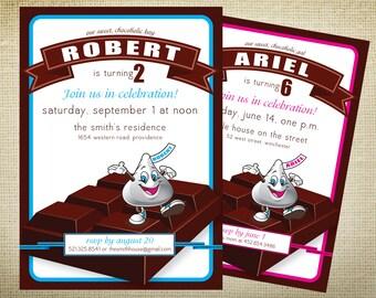 PRINTABLE Chocoholic Birthday Party Invitation