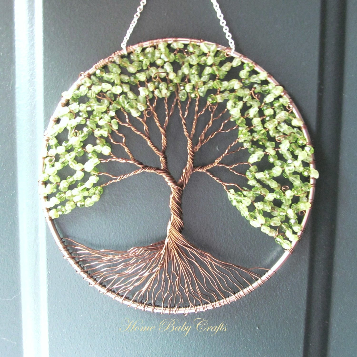 Peridot Olive Tree Wire Tree Of Life Wall Hanging Sun