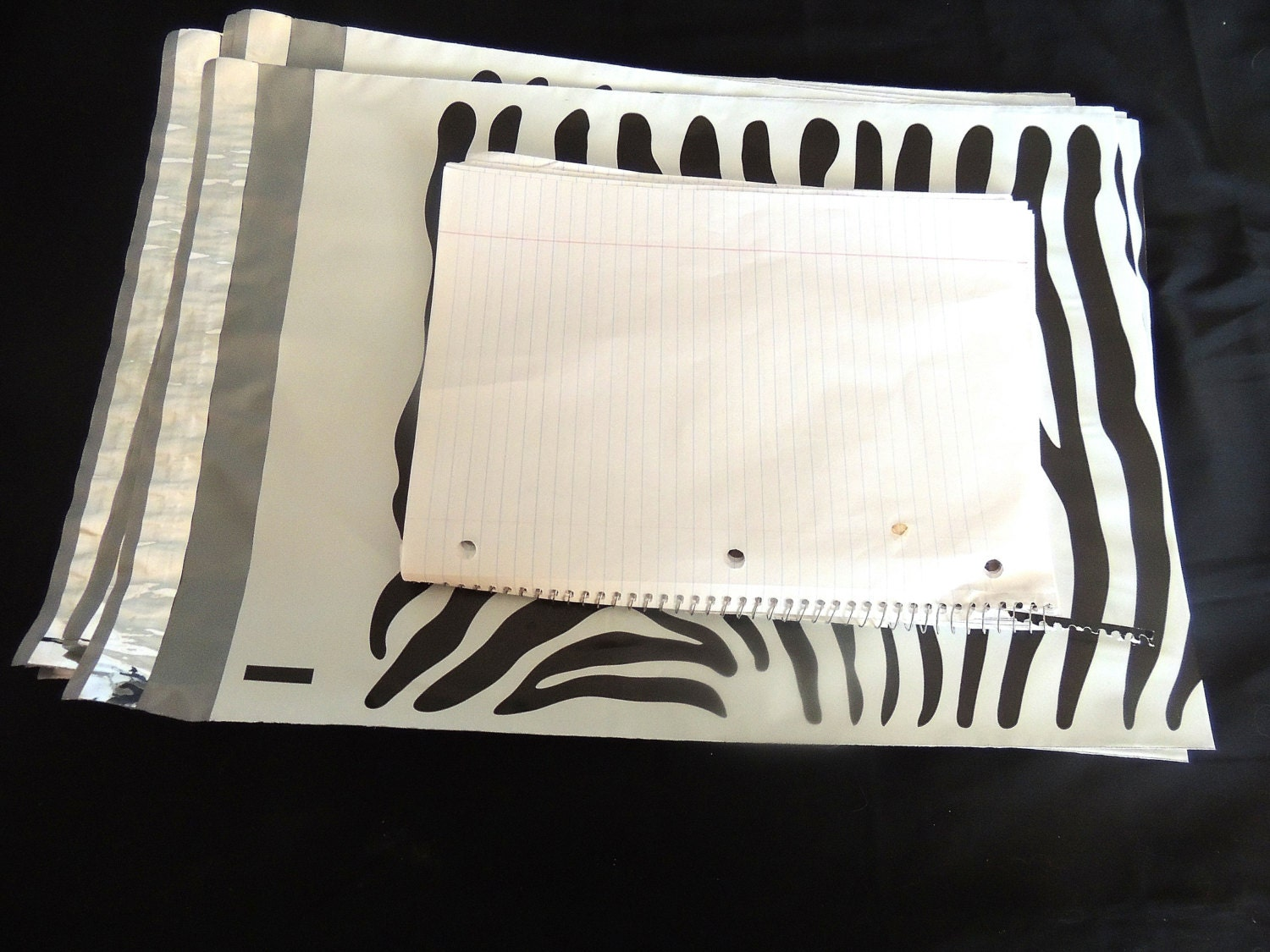 15 pack 12 x15 zebra poly decorative poly mailers flat for Decorative poly mailers