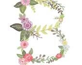 B - Floral print