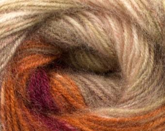 Gradient  Angora Yarn Magic Cream Camel Burgundy self striping earthy multicolored  winter yarn
