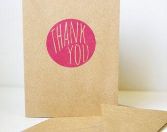 Thank You cards // Brown Kraft Cardstock