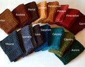 Crochet Boot Cuffs - Boot Toppers - Leg Warmers - Boot Socks
