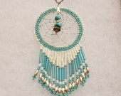 Vintage Navajo Dream Catcher Necklace, Native Amercian Jewelry