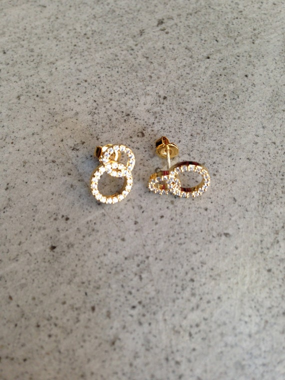 Infinity Earrings, gold infinity, gold circle earrings