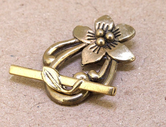 1clasps bronze flower clasp connector 20mmx16mm necklace clasp