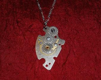 Shift Gears - Steampunk Necklace