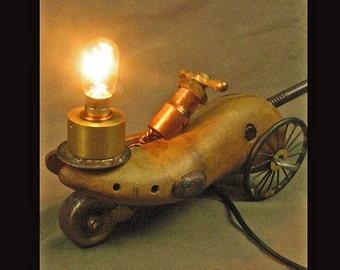 Steampunk-ish Shoe Last Car Lamp