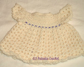 Baby's Victorian Style Dress and Diaper Cover Set