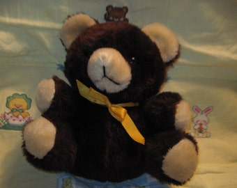 1982 A & B Novelty Cuddly Brown Teddy Bear
