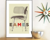 Retro poster, Mid Century Modern, Charles Eames, Eames Poster, Art print, A3 giclée print