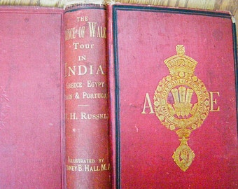 """Antique Book, """"The Prince Of Wales Tour; A Diary in India"""", Written 1877, Collectible Diary, Incredible Ephemera, Rare Hardbound Historical"""
