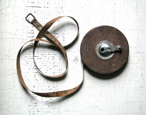 vintage metal measuring tape