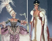 Simplicity Diva Pattern 7025 for Authentic Reproduction Marie Antoinette Dresses - Two Dress Patterns - Fashion Doll