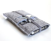 iPhone 6S Sleeve/ iPhone 6s Plus Case/ iPhone 4/4S/5/5S/5C Sleeve/ Samsung/ Nexus/ HTC/ One+One- Elastic Collection- All Light Grey
