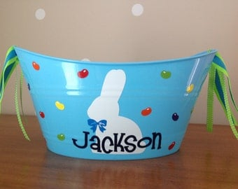 Bunny and Jelly Beans - Handy 12 inch Oval Tub