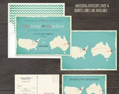 Destination wedding invitation Map Style Invitation Two Countries, Two Hearts, One Big Celebration bilingual wedding invitation Mab Lib RSVP