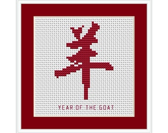 Year of the Goat, Chinese Zodiac Cross Stitch Chart
