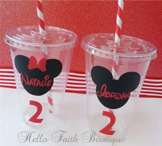 Mickey mouse cups with lids