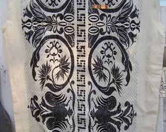 Vintage 1960's GRECA Inc., Greek Cotton Embroidered Sheath Dress, NOS