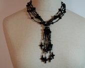 Onxy Goth Necklace x79