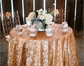 Gold Sequin, Antique Gold, Antique Sequin Tablecloths, Sequin Tablecloths, 1DAYSHIP.  Gatsby wedding, New Year, Christmas,
