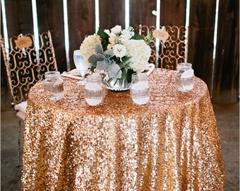 Gold Sequin, Antique Gold, Antique Sequin Tablecloths, Sequin Tablecloths, 1 DAY FREESHIP.  Gatsby wedding, New Year, Christmas,