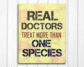 Real Doctors: Veterinarians Print