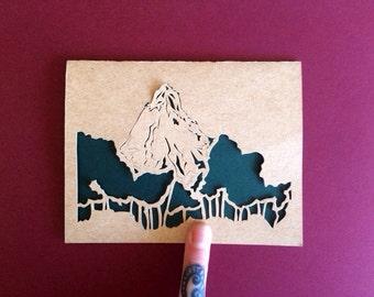 Mountain Peak Laser Cut Greeting Card