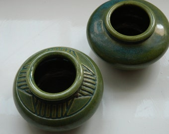 1 Beautiful Handmade Ceramic Green Ginger pot-You choose which one you would like..