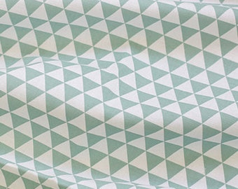 Mini Triangles Cotton Fabric - Teal - By the Yard 38841