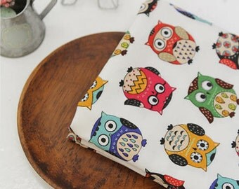 Owls Cotton Fabric Hoot - White - By the Yard 41799