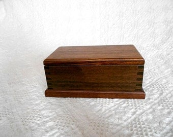 Wooden Keepsake Box - An African Zebrawood and Walnut Keepsake Box