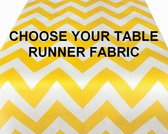 Table Runner Custom Made Choose Your Fabric, Chevron Table Runner, Christmas, Ikat Table Runner, Suzani Table Runner, Wedding Table Runner