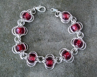 Butterfly Weave Chainmaille Bracelet