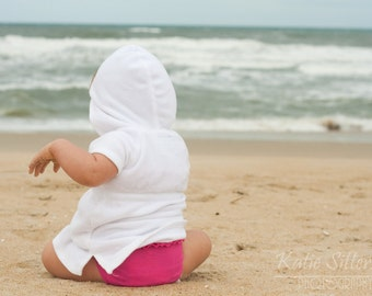 Baby Watching The Ocean, Beach Baby, Nags Head North Carolina, Photo Art, Framed Photography Option