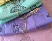 Hand stamped gift wrapping and craft project tissue paper ViNtAgE Steampunk Fairies Butterflies Dragonflies and Unicorns!