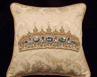 Aquamarine Tiara Pillow