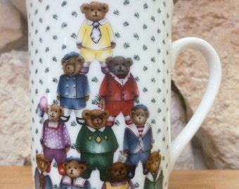 Otagiri Heartprint Teddy Bear mug