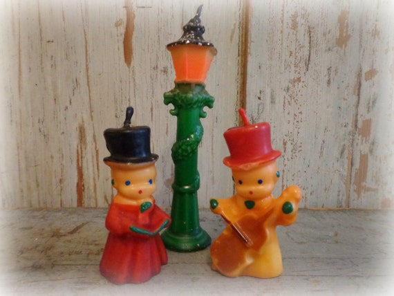 Vintage Gurley Christmas Candles Holiday Carolers Amp Lamp