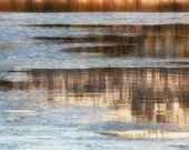 Abstract Reflections and Ice , nature photography print