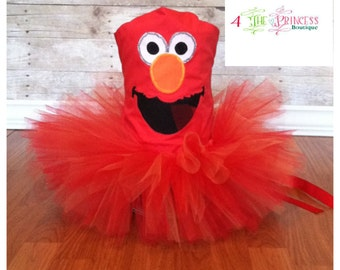 Red monster tutu outfit , elmo inspired , birthday outfit , halloween outfit , pageant outfit , corset top , tutu , tutu outfit