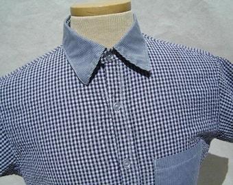 Dress Shirt short sleeve, button up, mens medium
