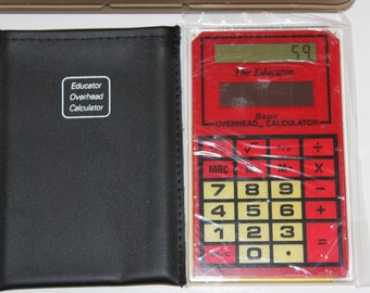 Vintage Teacher Calculator with box and instructions