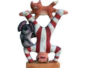 circus strongman - soft sculpture